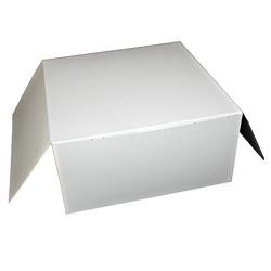 Honeymoon Paper Lock Corner Bakery Box, 10 inx10 inx5 in, White