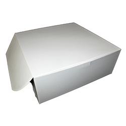 Honeymoon Paper Lock Corner Bakery Box, 16 inx16 inx6 in, White