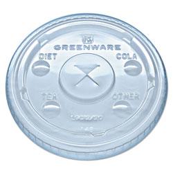 Fabri-Kal Greenware Cold Drink Lids, Fits 9, 12, 20 oz Cups, Clear, 1000/Carton