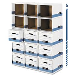 Fellowes File/Cube Box Shell, Legal/Letter, 12 x 15 x 10, White/Blue