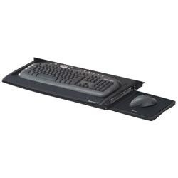 Fellowes Deluxe Keyboard Drawer, 20.5w x 11.13d, Black
