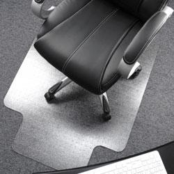 Floortex Chairmat, 47 in x 35 in, Deep Pile, Clear