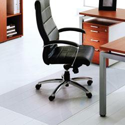 Floortex ClearTex XXL Ultimat Chair Mat, 60 x 118, No Lip, Clear