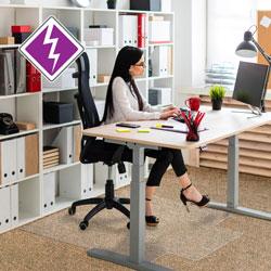 Floortex Anti-Static Chairmat, Lip, 36 in x 48 in, GNTN