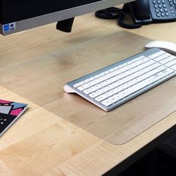 Floortex Anti-Slip Deskpad, 20 in x 36 in, Clear
