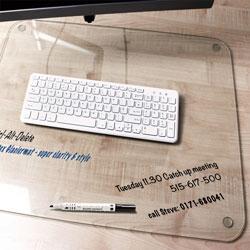 Floortex Desk Pad, Bio-based, Antimicrobial, 24 inWx19 inD, Clear