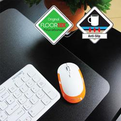 Floortex Place Mat, Heat-Resistant, 18 inWx12 inL, 4/PK, Clear