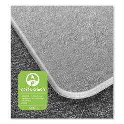Floortex Cleartex MegaMat Heavy-Duty Polycarbonate Mat for Hard Floor/All Carpet, 46 x 53, Clear