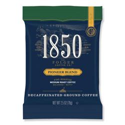 1850 Coffee Fraction Packs, Pioneer Blend Decaf, Medium Roast, 2.5 oz Pack, 24 Packs/Carton