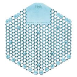 Fresh Products Wave 3D Urinal Deodorizer Screen, Blue, Ocean Mist Fragrance, 10 Screens/Box