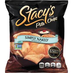Frito Lay Pita Chips, Simply Naked, 5-1/4 inWx1-1/2 inLx6-3/4 inH, 24/BX