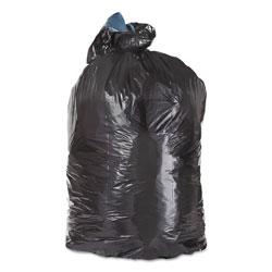Essex Plastics Low Density Repro Can Liners, 60 gal, 1.5 mil, 38 in x 58 in, Black, 100/Carton