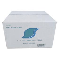 GEN Jumbo Bath Tissue, Septic Safe, 2-Ply, White, 3.5 in x 800 ft, 12/Carton