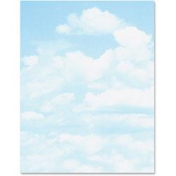 Geographics Printer Paper, Letterhead, Clouds, 24lb, 100/PK, Blue