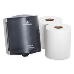 Sofpull Trial Kit, Dispenser, 9 5/8 x 12 1/8 x 9 3/8, Translucent Smoke