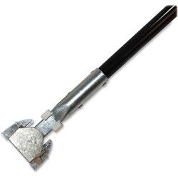 Genuine Joe Dust Mop Handle, 1 in diameter x 60 in L, 12/CT, Black