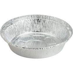 Genuine Joe Aluminum Round Food Container, 7 in, 250/CT, Silver