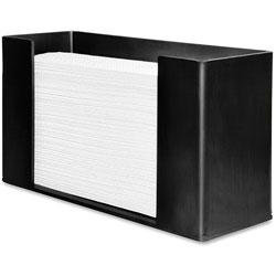 Genuine Joe Paper Towel Dispenser, 11-1/2 in x 4-1/8 in x 6-3/4 in, Black