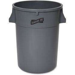 Genuine Joe Trash Container, Heavy Duty, 44 Gal, 31.5 in x 24 in x 24 in, Gray