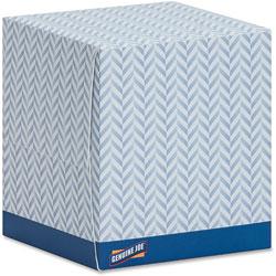 Genuine Joe Facial Tissue, 2-Ply, Cube Box, 85 /Box, 36/CT, White