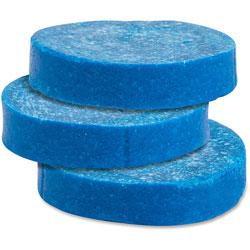 Genuine Joe Toss Blocks w/Blue Dye, Non-Para, 12/Pack, Cherry Scent/Blue