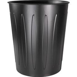 Genuine Joe Metal Trash Can, Fire-Safe, 13 inDX14 inH, Black