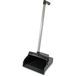 Genuine Joe L-Grip Plastic Lobby Dust Pan, 6/CT, Black