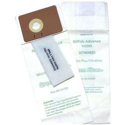 Green Klean Advance VU500 12 & 15 Uprights Replacement Vacuum Bags, 10 Bags