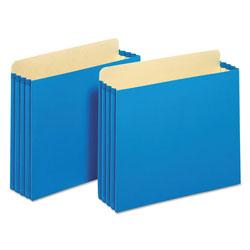 Pendaflex File Cabinet Pockets, 3.5 in Expansion, Letter Size, Blue, 10/Box