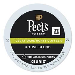 Peet's House Blend Decaf K-Cups, 22/Box