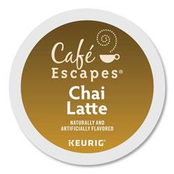 Cafe Escapes® Caf� Escapes Chai Latte K-Cups, 24/Box