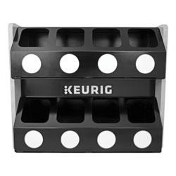 Keurig® Premium K-Cup Pod Storage Rack 8-Sleeve, 16 x 21 x 18, Black