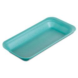 Genpak Supermarket Trays, Foam, Green, 8 3/8 in x 3 3/8 x 7/8 in, 500/Carton