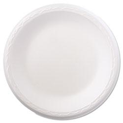 Genpak Foam Dinnerware, Plate, 8 7/8 in dia, White, 125/Pack, 4 Packs/Carton
