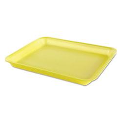 Genpak Processor/Heavy Supermarket Tray, Yellow, 10-1/2x8-1/4x1-1/8, 100/Bag, 4/CT