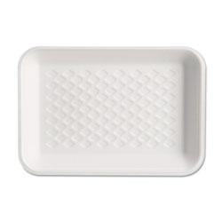 Genpak Supermarket Tray, Foam, White, 8-1/4x5-3/4x1, 125/Bag