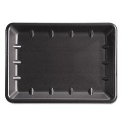 Genpak Supermarket Tray, Foam, Black, 10 x 14 x 1-1/4, 100/Carton