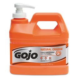 Gojo NATURAL ORANGE Pumice Hand Cleaner, Citrus, 0.5 gal Pump Bottle, 4/Carton