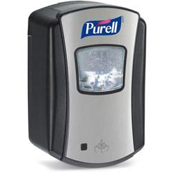 Purell LTX-7 Touch-Free Hand Sanitizer Dispenser, 700mL, Chrome/Black