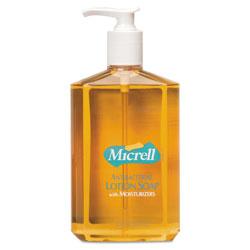 Gojo Antibacterial Lotion Soap, 12oz, Pump Bottle, Light Scent