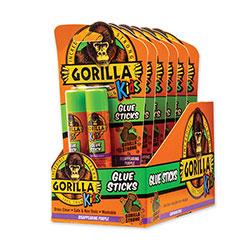 Gorilla Glue School Glue Sticks, 0.21 oz/Stick, Dries Clear, 12 Sticks/Box