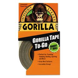 Gorilla Glue Gorilla Tape, 1.5 in Core, 1 in x 10 yds, Black