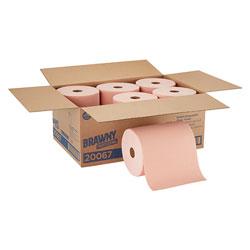 Brawny Professional® D400 Disposable Shop Towel Refill, Orange, 260 Linear Feet/Roll, 6 Rolls/Case, Wiper (WxL) 10 in x 250'