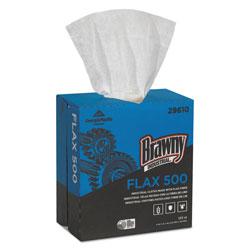 Brawny Professional® FLAX 500 Light Duty Cloths, 9 x 16 1/2, White, 132/Box, 10 Box/Carton