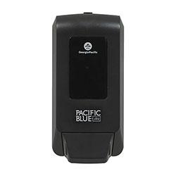Pacific Blue Ultra Soap/Sanitizer Dispenser f/1200mL Refill, Black, 5.6x4.4x11.5