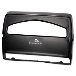 GP Safe-T-Gard Toilet Seat Cover Dispenser,1/2Fold, 16 3/8 x 2 1/2 x 16 3/8, Black