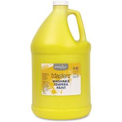 Handy Art Washable Tempera Paint, L-Mast, 1gal., Yellow