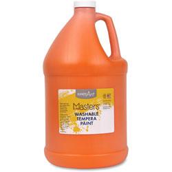 Handy Art Washable Tempera Paint, L-Mast, 1gal., Orange