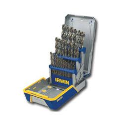 Hanson 29-Piece High-Speed Cobalt Steel Drill Bit Set, w/Case