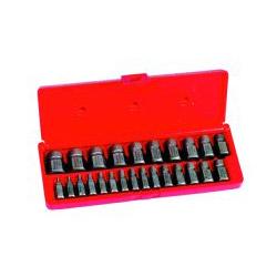 Hanson Hex-Head Multi-Spline Screw Extractor, 25-Piece Set